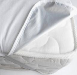 Husa de pat din frotir peliculizat Iry pentru o sigura persoana Alb 90x200 cm Lenjerii de pat
