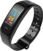 Bratara fitness wearfit C1Plus ecran color IP67 puls dinamic tensiune oxigen Android iOS stand by 15 zile notificari negru Bratari Fitness