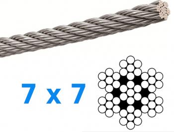 Cablu din inox grosime 6mm lungime 1 metru AISI316 Accesorii materiale de constructie