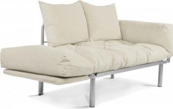 Canapea extensibila 2 locuri Model Combi Crem- Crem Casafun
