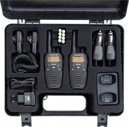 Statie radio PMR portabila Stabo Freecomm 700 Box 8CH VOX Radio FM 0.5W IPX2 600mAh set cu 2bc 20701 Alarme auto si Senzori de parcare