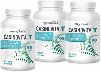 Casinovita T - Vitamina T carnitina pachet 3 luni Medicinas