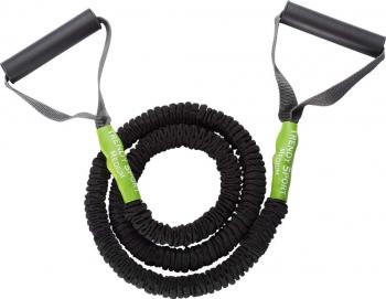 Extensor cu coarda elastica si manere Pentru aerobic si recuperare Protectie bumbac 1.3 m Accesorii fitness
