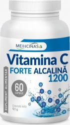 Vitamina C Forte Alcalina 1200 mg- Cea mai puternica vitamina C de la Medicinas 60cps.