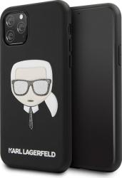 Husa Originala Karl Lagerfeld Klhcn58glbk iPhone 11 Pro Iconik Embossed Glitter- Negru Huse Telefoane