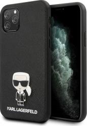 Husa Premium Originala Karl Lagerfeld Klhcn58ikfbmbk iPhone 11 Pro Saffiano Ikonik - Negru Huse Telefoane
