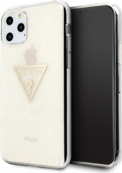 Husa Spate Premium Guess iPhone 11 Pro Glitter Triangle Gold -guhcn58sgtlgo Huse Telefoane