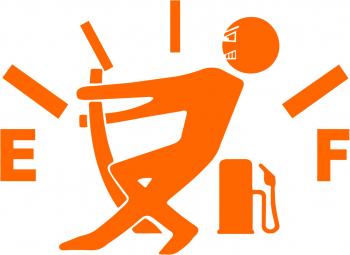 Sticker clapeta rezervor auto culoare portocaliu decorativ