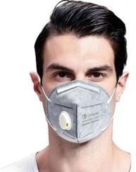 Masca KN95 FFP2 6 straturi cu VALVA expiratie si filtru carbon activ set 10 Bucati sigilate Masti chirurgicale si reutilizabile