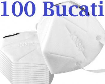Masca respiratoare KN95 FFP2 4 straturi FFP2 set 100 Bucati sigilate Masti chirurgicale si reutilizabile