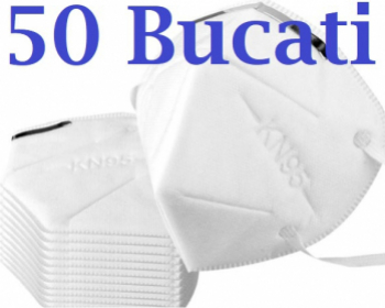 Masca respiratoare antivirus KN95 FFP2 4 straturi FFP2 set 50 Bucati sigilate Masti chirurgicale si reutilizabile