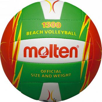 Minge volei plaja Molten V5B1500-LO culoare verde cu portocaliu si alb