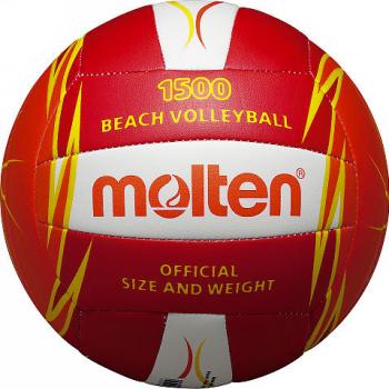 Minge volei plaja Molten V5B1500-RO culoare rosu / portocaliu / alb