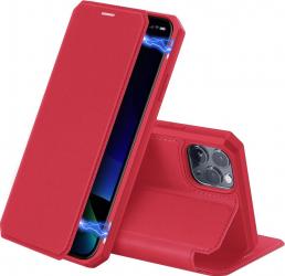 Husa Premium Duxducis Skin X iPhone 11 Pro Rosu Flip Cover Huse Telefoane