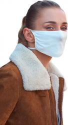 Masca fata reutilizabila microfibra cu ioni de argint alb Masti chirurgicale si reutilizabile