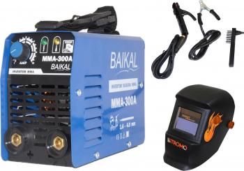Set Invertor sudura MMA Baikal 300 300A Semi-Profesional max 4 mm electrod + Masca STROMO SX5000B Cameleon Cristale Lichide Automat+Reglaj