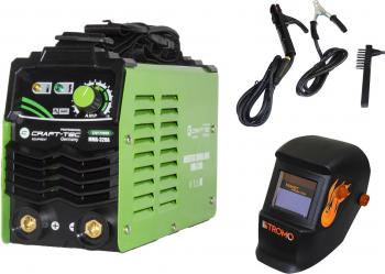 Set Invertor sudura MMA CRAFT-TEC 320A Semi-Profesional max 4 mm electrod + Masca STROMO SX5000B Cameleon Cristale Lichide Automat+Reglaj