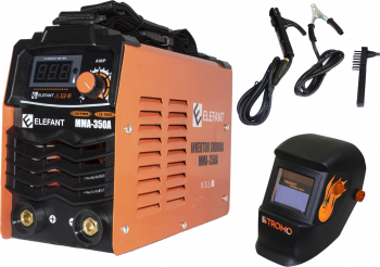 Set Invertor sudura MMA ELEFANT 350A Semi-Profesional max 4 mm electrod + Masca STROMO SX5000B Cameleon Cristale Lichide Automat+Reglaj