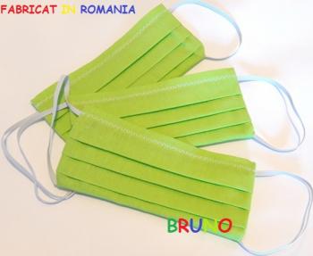Set 3 masti de protectie reutilizabile doua straturi verzi Masti chirurgicale si reutilizabile