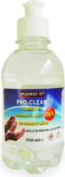 Solutie igienizanta pentru miini pe baza de alcool vol.75 si glicerina PRO-CLEAN 250 ml Gel antibacterian