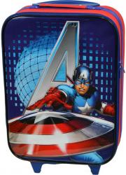 Troler cabina copii Model Avengers Disney-Captain America rosu-albastru 47 x 32 x 16 cm Trolere