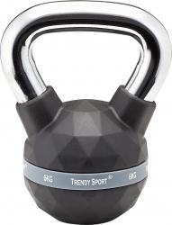 Gantera Kettlebel Exclusiv Premium 6 kg Maner crom Negru Accesorii fitness