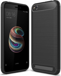 Husa de telefon Carbon Premium Protect Xiaomi Redmi 5A 6 nivele de protectie Finisaj metalic Slim Black Huse Telefoane