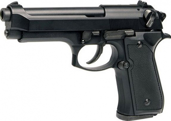 Bricheta pistol anti-vant tip revolver Beretta negru marime naturala scara 1 la 1 Cadouri
