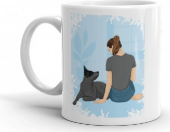 Cana personalizata Life is better with a dog Cadouri