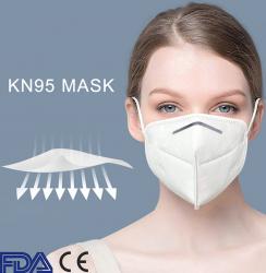 Masti de Protectie KN95 100 Bucati masca ALB Masti chirurgicale si reutilizabile
