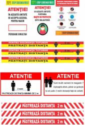 Pachet stickere masuri preventie Coronavirus reguli in magazin masca obligatorie nr maxim de persoane