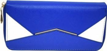 Portofel elegant de dama in doua culori albastru cu alb Portofele