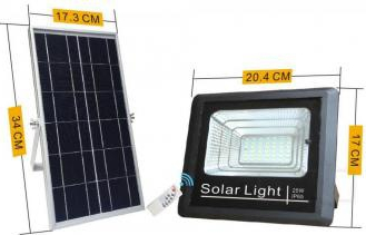 PROIECTOR LED SOLAR CU TELECOMANDA 25W Corpuri de iluminat