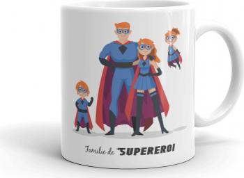 Cana personalizata Familie de supereroi