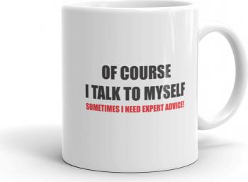 Cana personalizata I talk to myself