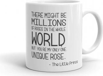 Cana personalizata Micul Print - Unique rose