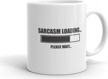 Cana personalizata Sarcasm loading Cadouri