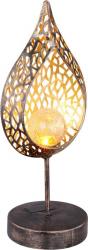 Lampa solara decorativa tip glob LED 0.06W metal-sticla protectie IP44 comutator Corpuri de iluminat