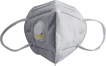 Masca KN95 FFP2 6 straturi cu VALVA expiratie si filtru carbon activ set 3 Bucati sigilate Masti chirurgicale si reutilizabile