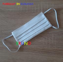 Masca de protectie reutilizabila doua straturi alba Masti chirurgicale si reutilizabile