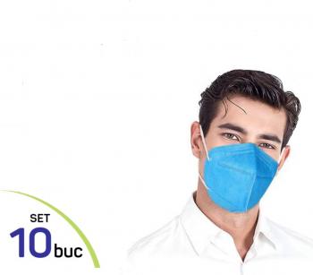 Masti de Protectie KN95 10 Bucati masca albastru Masti chirurgicale si reutilizabile