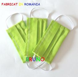 Set de 3 masti de protectie reutilizabile verzi pentru copii Masti chirurgicale si reutilizabile