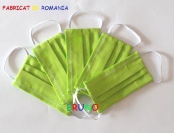 Set de 5 masti de protectie reutilizabile verzi pentru copii Masti chirurgicale si reutilizabile