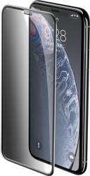 Folie Sticla Protectie Full Privacy iPhone 11 XR Baseus Rigid-Edge 3D Full Glue 9H 0.3 mm Rama Neagra Folii Protectie