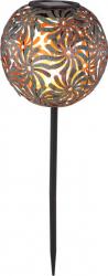 Glob solar iluminat LED model flori fixare in pamant 300mAh IP44 ruginiu Corpuri de iluminat