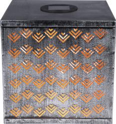 Lampa solara forma cub LED 0.12W acumulator 300mAh protectie IP44 argintie Corpuri de iluminat