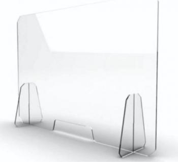 Panou protectie din plexiglas transparent grosime 3mm L80 H60 cm Articole protectia muncii