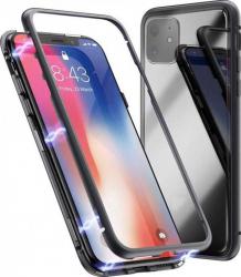 Husa Apple iPhone 11 Negru Perfect Fit cu spate de sticla securizata premium