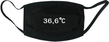 Masca protectie reutilizabila din material textil cu imprimeu and rdquo 36 6 and rdquo neagra Masti chirurgicale si reutilizabile
