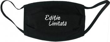 Masca protectie reutilizabila din material textil cu imprimeu and rdquo Editie limitata and rdquo neagra Masti chirurgicale si reutilizabile